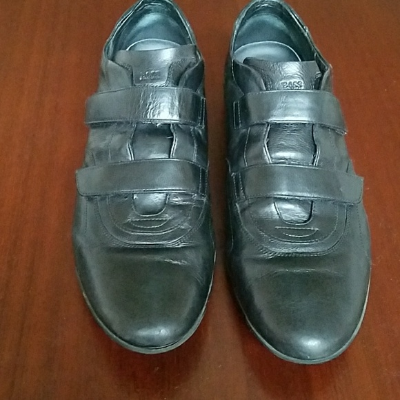 dde14dad914 Hugo Boss Black leather Velcro strap shoes. M_5a4e97a650687cba62001bf0